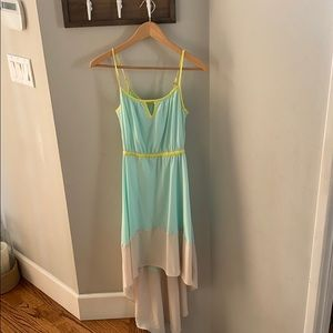 Small long summer dress silky